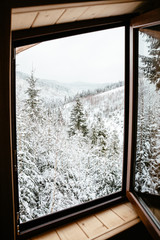 window with winter view
