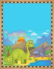 Photo sur Plexiglas Dinosaurs Dinosaur theme parchment 6