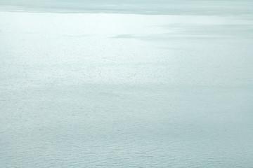 Landscape water waves in vast lake background