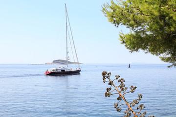 Beautiful luxury sailing yacht, Cavtat, Croatia