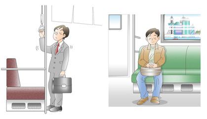 通勤電車。