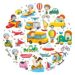 Vector Illustration Of Vehicles Concept Design