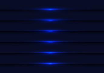 Abstract dark blue light metallic shutter design modern technology futuristic background vector illustration.