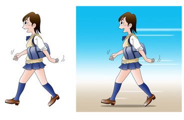 通学、歩く02