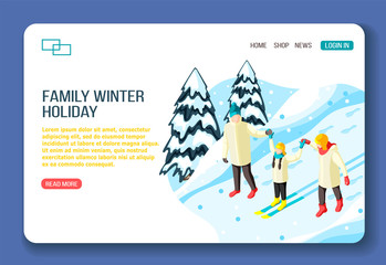 Family Winter Holidays Landing Page