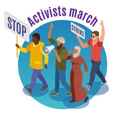 Activists March Round Design Concept