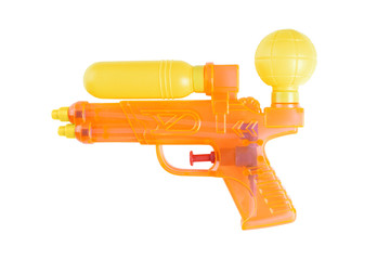 plastic toy water pistol or water gun