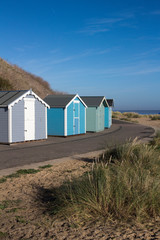 Beach Huts at Pakefield, Suffolk, England