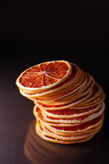 dried slices of grapefruit