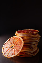 cut dried grapefruit
