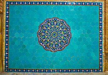Decorative panel in Jameh Mosque, Yazd, Iran
