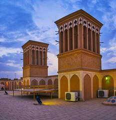 Twilight in Yazd, Iran