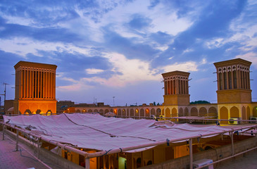 Spend the evening on the roof, Yazd, Iran