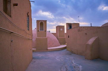 The medieval yakhchal in old Yazd, Iran