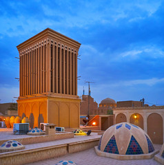 Explore the roof of old mansion, Yazd, Iran