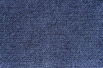 Blue knit fabric knitted fabric close-up as the background