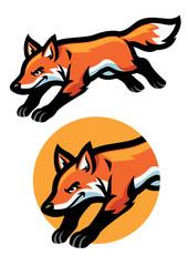 jumping fox mascot