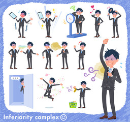 flat type Gray suit businessman Bad condition_complex