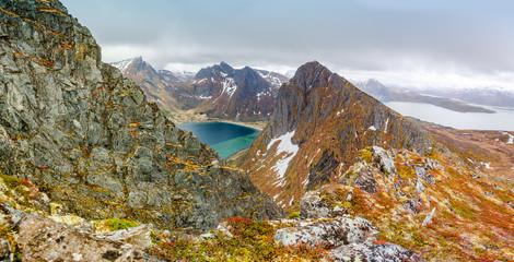 The mountain Husfjellet on Senja