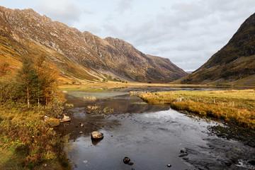 Glen Coe in Highlands Scotland