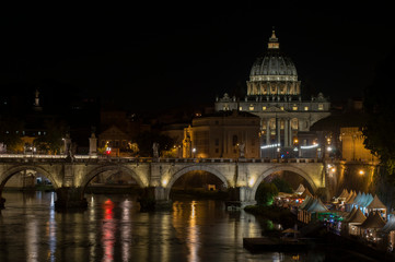 Fond de hotte en verre imprimé Rome San Pietro