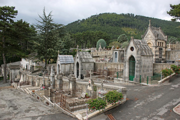 Cemetery by Sisteron Citadel, France