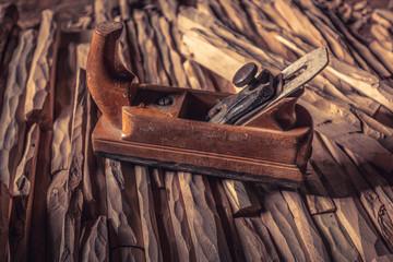 vintage wood hand planer