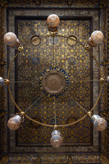 Amazing decorated chandeliers at the Qalawun complex (Arabic: مجمع قلاون‎), a massive complex in islamic Cairo, Egypt