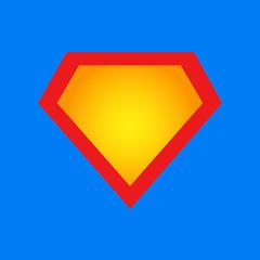 Superhero icon, symbol, element, sign. Shield, emblem superman.