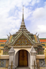 Bangkok the capital of Thailand. February 16. 2016.The royal grand palace in Bangkok. Traditional Thai style and dekoration on the buildings. Attractions for many tourists.