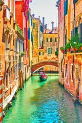 Wall Murals Venice Venetian canal on summer sunny day