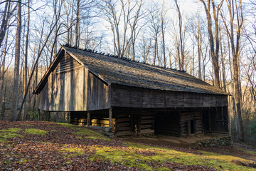 Old barn in the Great Smoky Mountains National Park