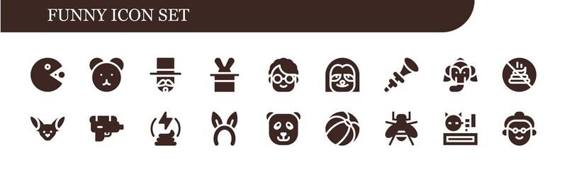 funny icon set