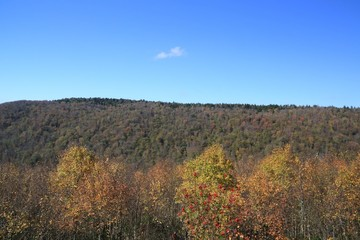 West Virginia Mountain Top and valley