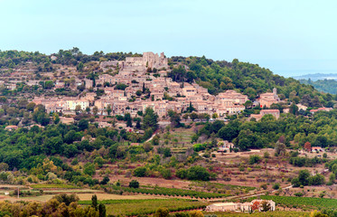 Gordes village in France on a cloudy day