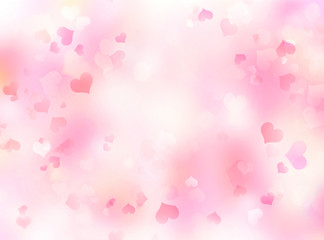 Valentine's day background,blurred hearts backdrop.