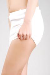 sexy slim female body figure