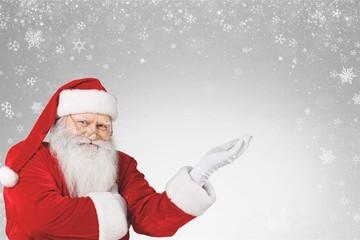 Portrait of Smiling Santa Claus on white background