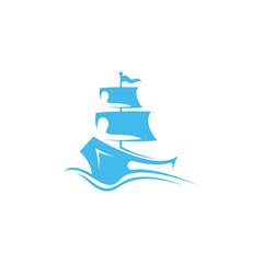 Ship logo template. Abstract ship logos in vector form. Marine vehicle logo