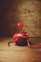 Apfel mit Herz - Liebesapfel zum Valentinstag - Einladung  - Gesundheit