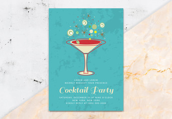 Cocktail Party Invitation Layout