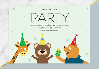 Children's Birthday Party Invitation Layout