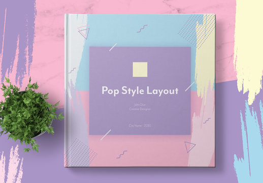 Pop Style Catalog Layout with Pastel Accents