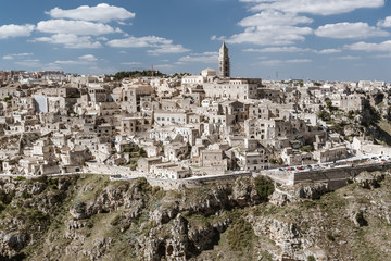 """Matera in region Bazylikata, Italy - commonly referred to as """"town carved out of the rock"""""""