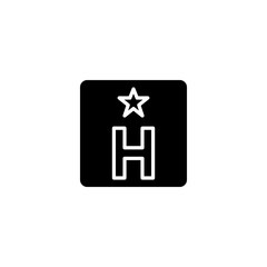 hostel icon vector. hostel vector graphic illustration