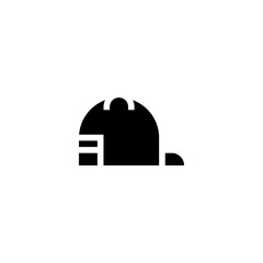 baseball cap icon vector. baseball cap vector graphic illustration