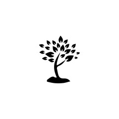 tree with many leaves icon vector. tree with many leaves vector graphic illustration