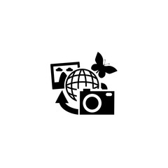 earth pictures icon vector. earth pictures vector graphic illustration
