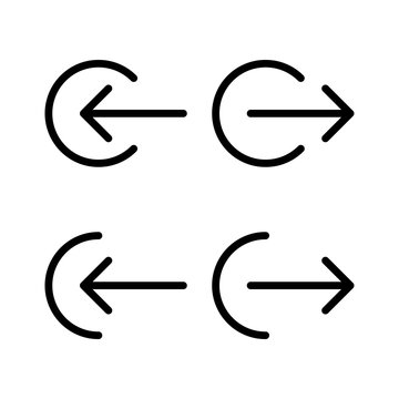 Logout and login line icons. Vector