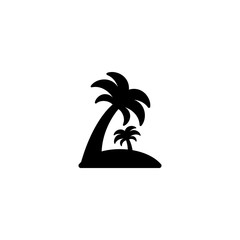 island with palm trees icon vector. island with palm trees vector graphic illustration